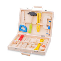 New Classic Toys houten gereedschapskoffer 10 delig