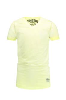 T-shirt Helon geel