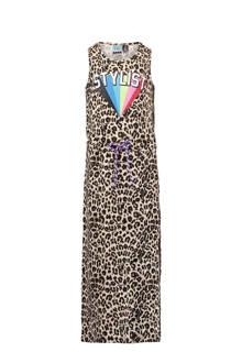maxi jurk Petine met een allover luipaard print