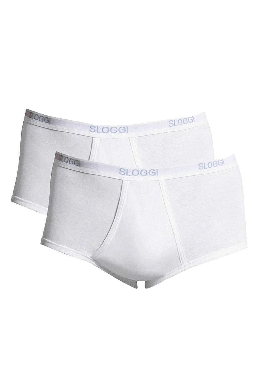 Sloggi Men Basic maxislip (set van 2) wit, Wit