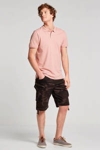 JACK & JONES ESSENTIALS basic slim fit polo oudroze, Oudroze