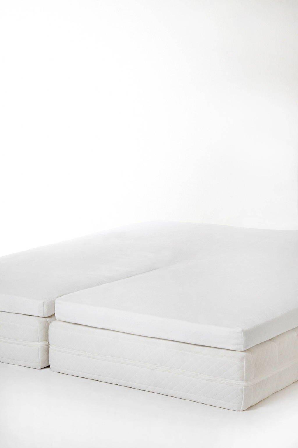 whkmp's own molton hoeslaken split topmatras (tot 7 cm matras), Wit