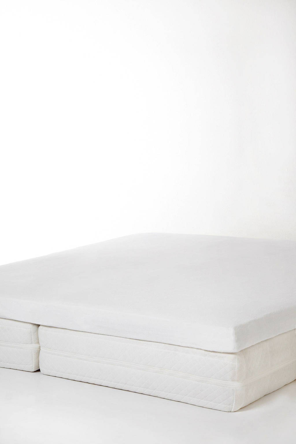 Wehkamp Home molton hoeslaken topmatras (tot 7 cm matrashoogte), Wit