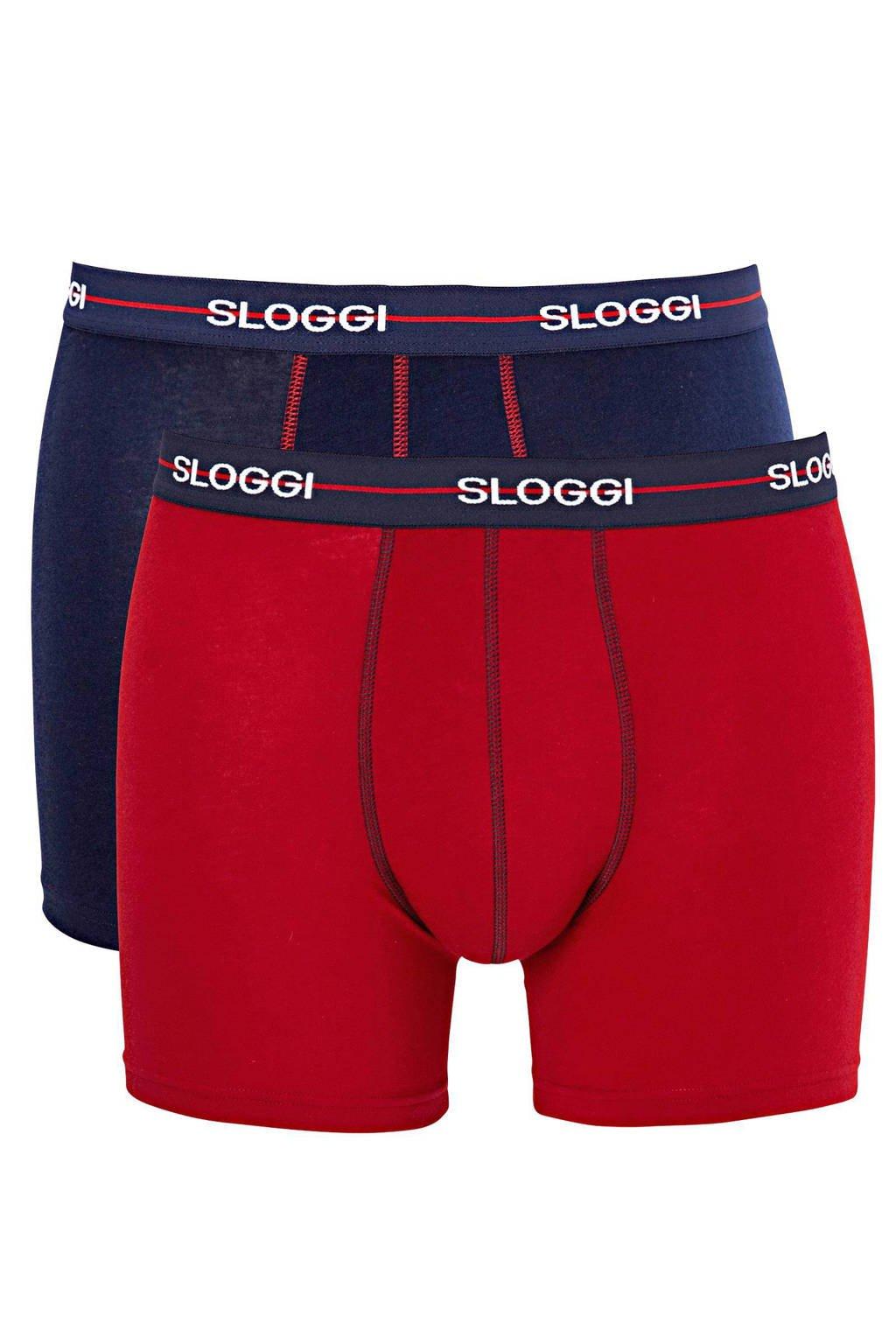 Sloggi Men Start boxershort (set van 2), Marine/rood