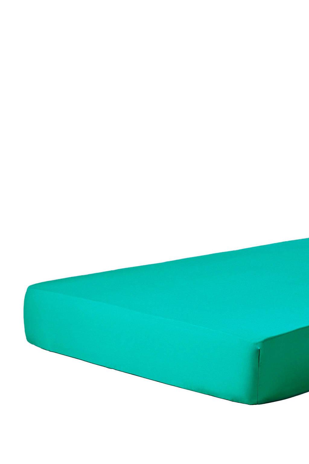 Essenza katoensatijnen hoeslaken Groen