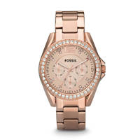 Fossil Riley Dames Horloge ES2811, Rosé