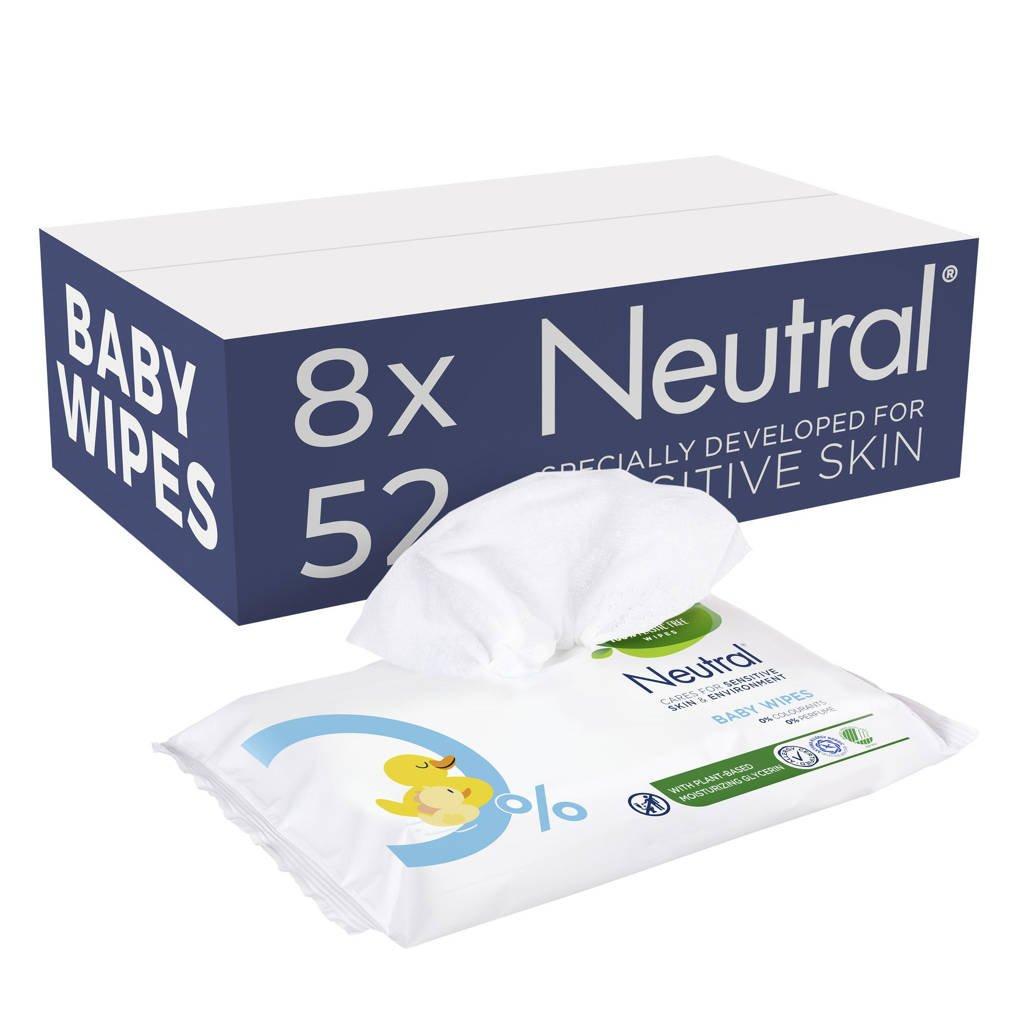 Neutral Baby 8x63 billendoekjes - parfumvrij, 504 stuks / 8 pakjes