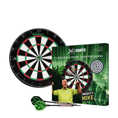 XQ-Max Darts Michael van Gerwen flocked dartbord set kopen