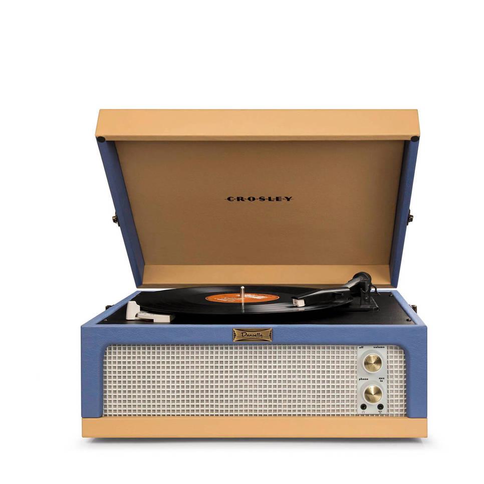 Crosley Dansette SF0017RP-BT retro platenspeler blauw, Blauw