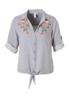 blouse met striksluiting
