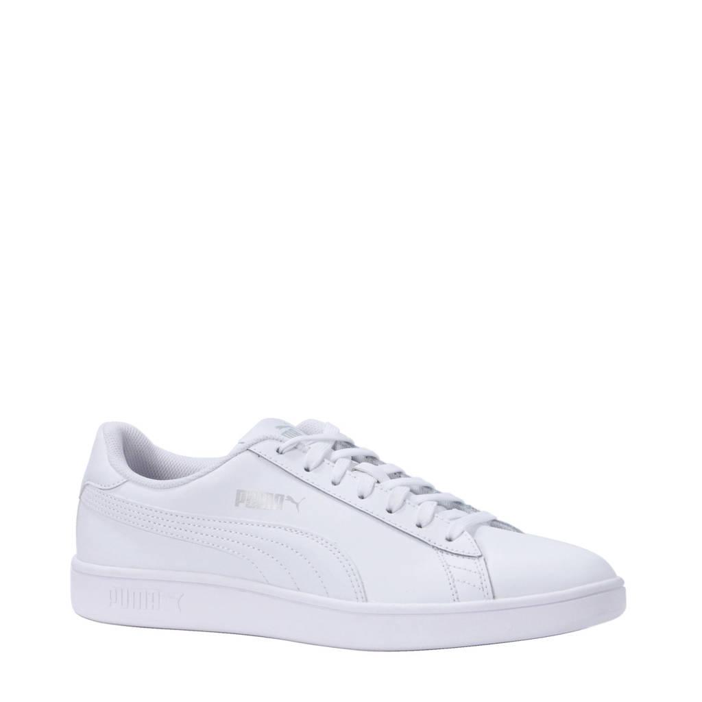 25b0b46d146 Puma Smash v2 L leren sneakers wit   wehkamp