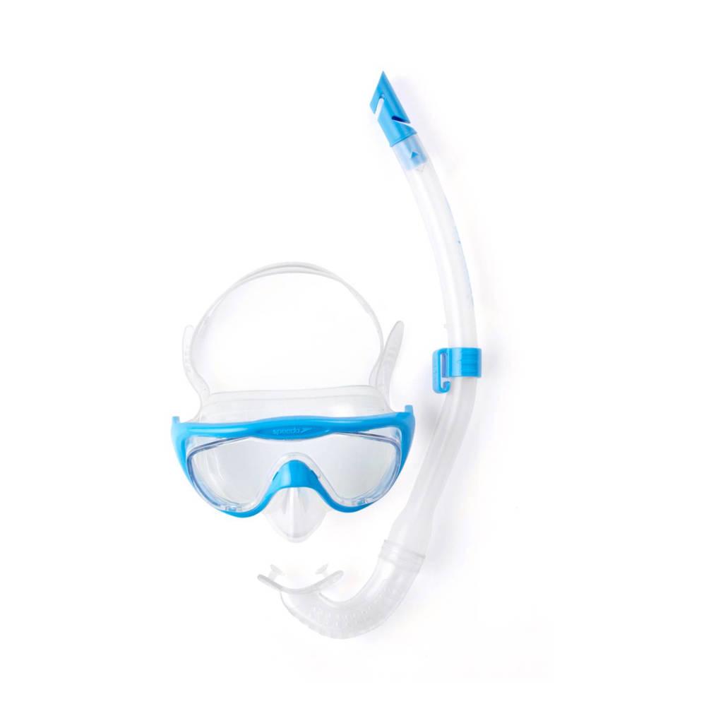 Speedo snorkelset, lichtblauw/transparant