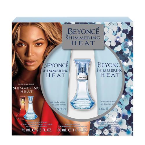 Beyonce Shimmering Heat Geschenkset Edp 30ml Bodylotion 75ml Showergel 75ml