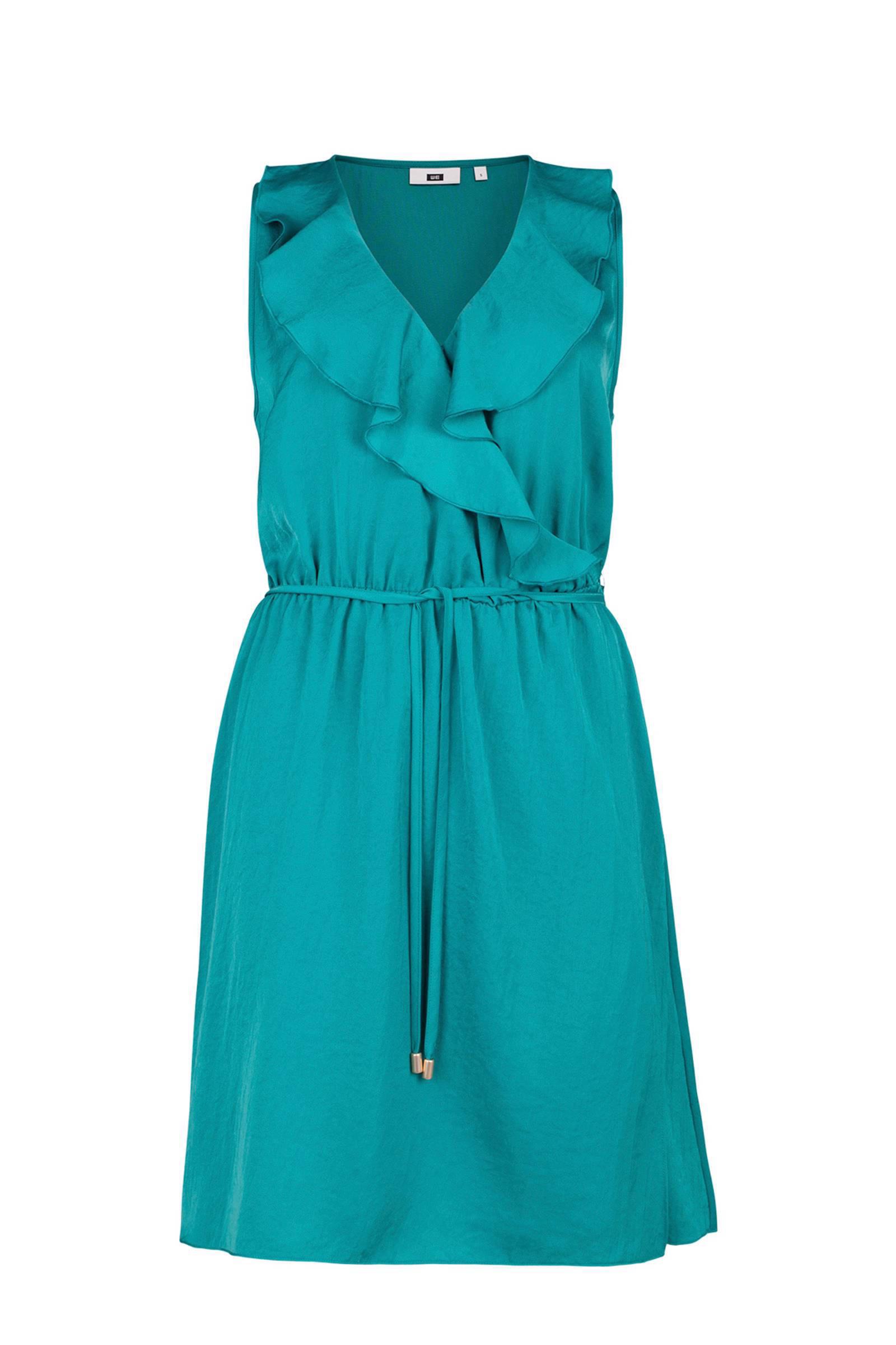 turquoise jurk