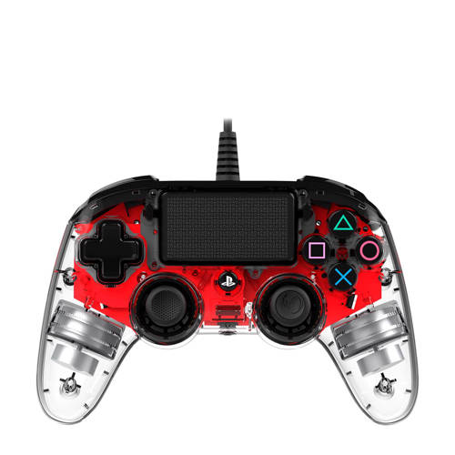 Nacon PlayStation 4 official wired compact LED controller rood kopen