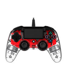 PlayStation 4 official wired compact LED controller rood