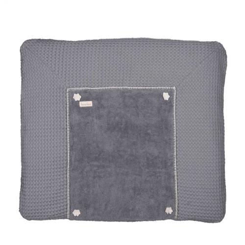 Koeka aankleedkussenhoes wafel Bonn steel grey