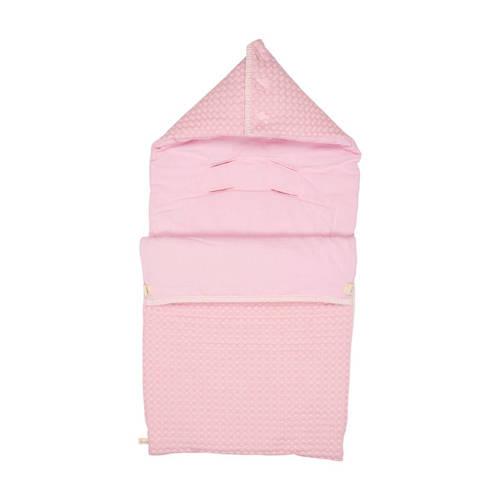 Koeka baby voetenzak wafel-flanel Antwerp old baby pink