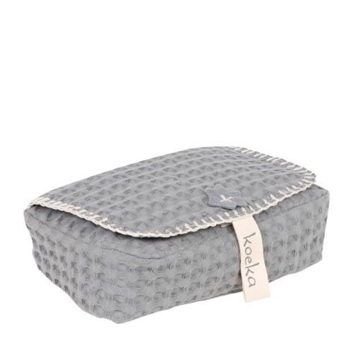 Koeka Antwerp Hoes Voor Babydoekjes Steel Grey