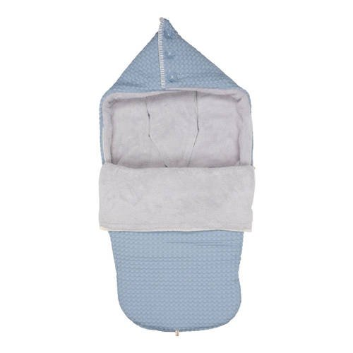 Koeka buggy voetenzak wafel-teddy Oslo soft blue-silver grey