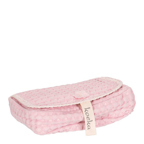 Koeka hoes voor babydoekjes Antwerp old baby pink