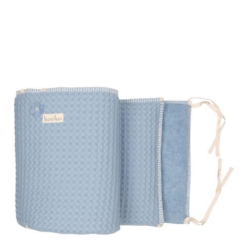 Koeka bed--boxbumper Amsterdam soft blue