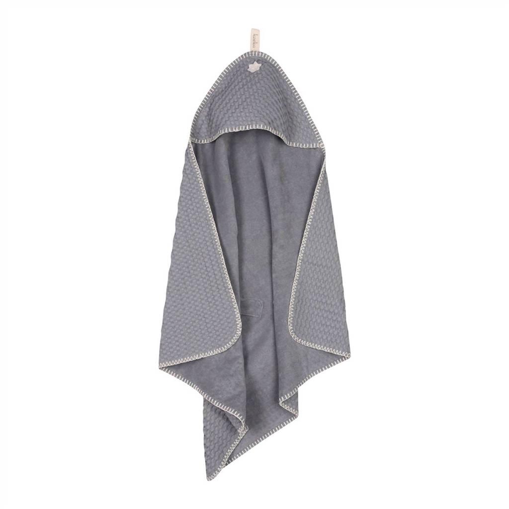 Koeka Antwerp badcape 105x100 cm steel grey, Steel grey