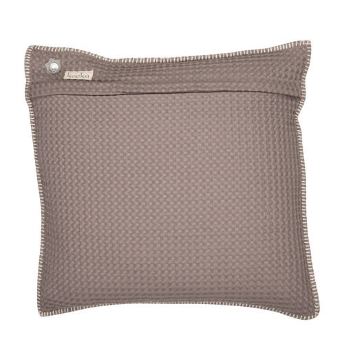 Koeka kussenhoes wafel-teddy Oslo taupe-soft grey