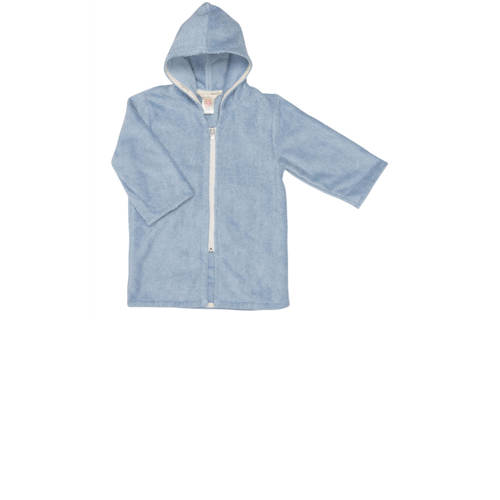 Koeka badjas met rits Venice soft blue-86-92