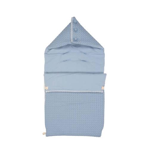 Koeka baby voetenzak wafel-flanel Antwerp soft blue