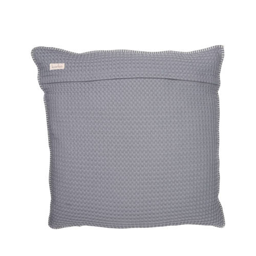 Koeka kussenhoes wafel-teddy Oslo 50x50 cm steel grey-pebble