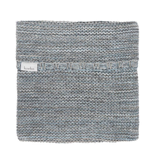Koeka Wiegdeken Porto Grey-Soft Blue-Pebble