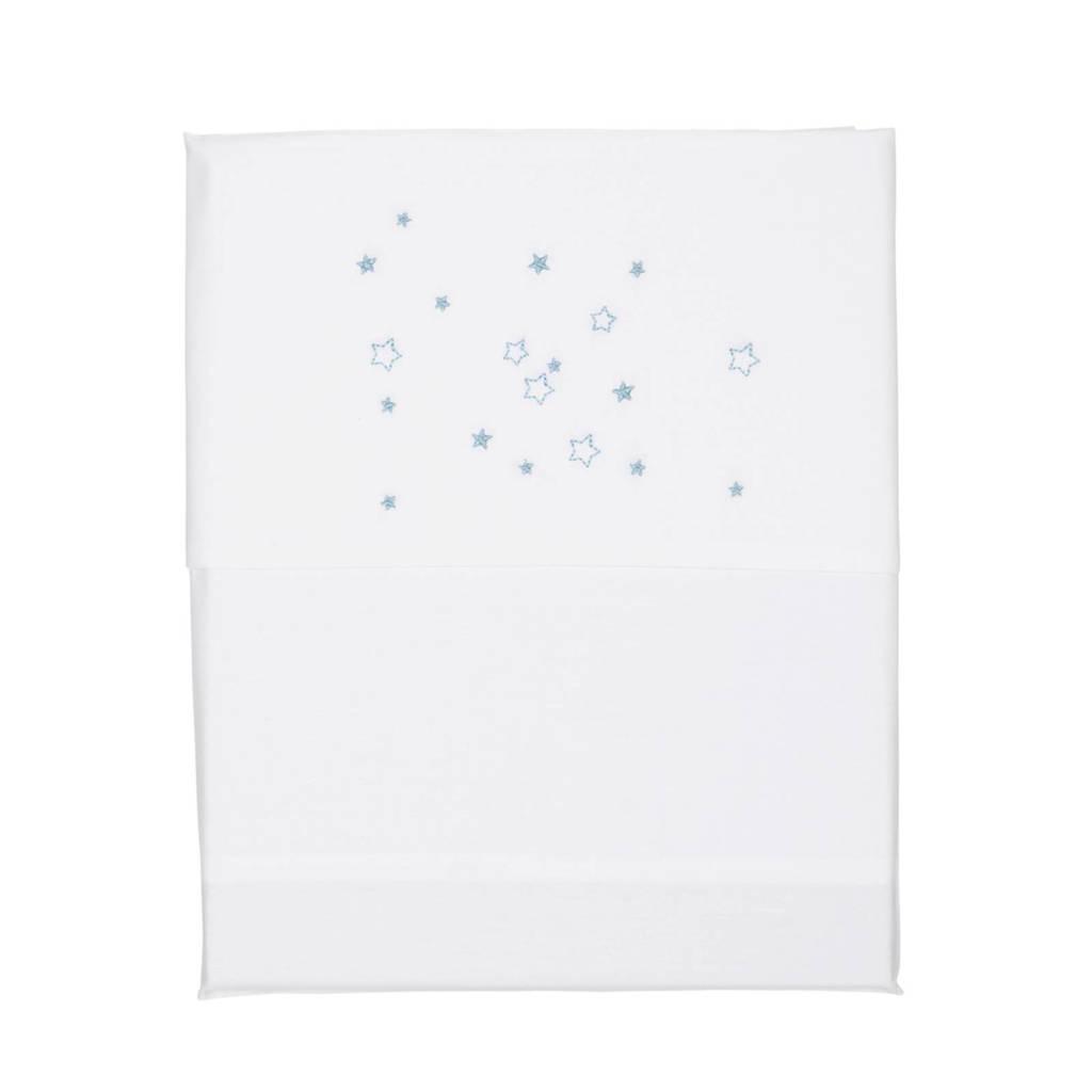 Koeka Stars wieglaken 80x100 cm white/soft blue