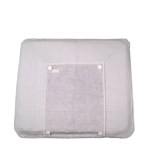 Koeka aankleedkussenhoes wafel Bonn silver grey