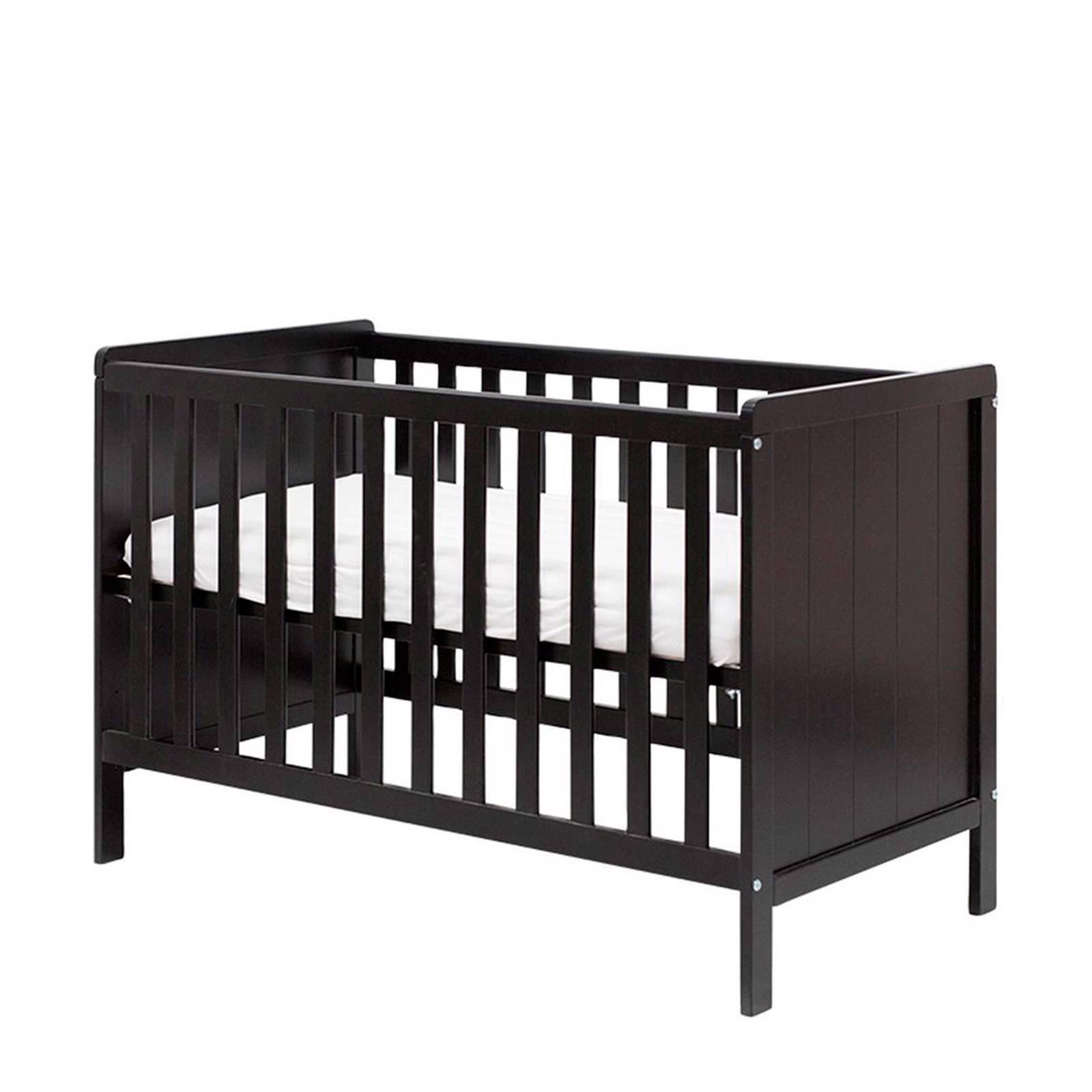 Zwart Ledikant Baby.Basicline Ralph Ledikant 60x120 Cm Zwart Wehkamp
