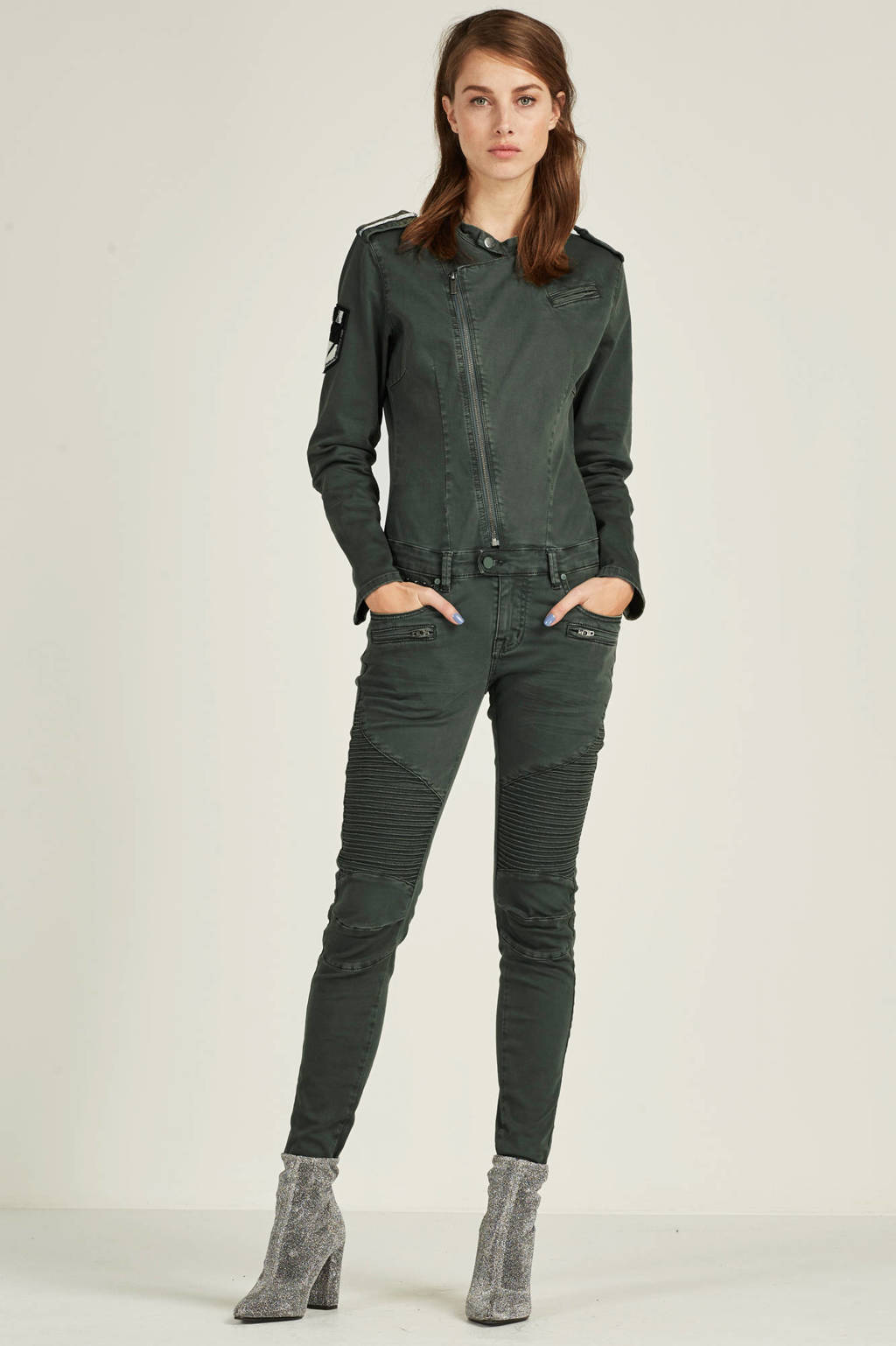 Circle of Trust New Taylor denim jumpsuit, Army Green