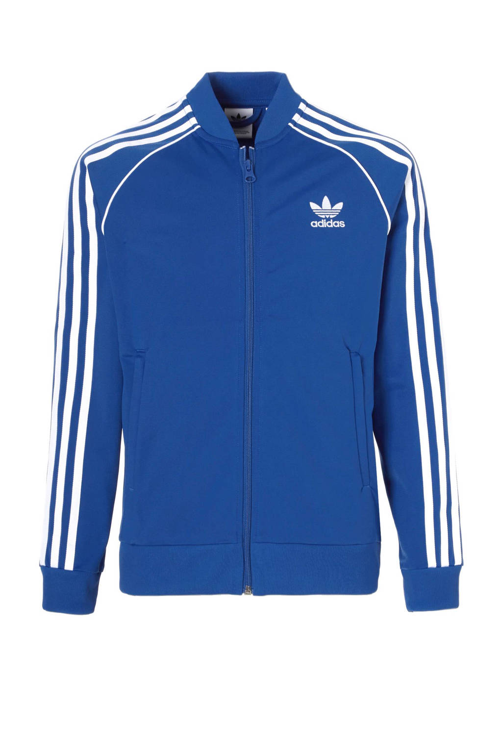 37f4d845382 adidas originals vest, Blauw/wit