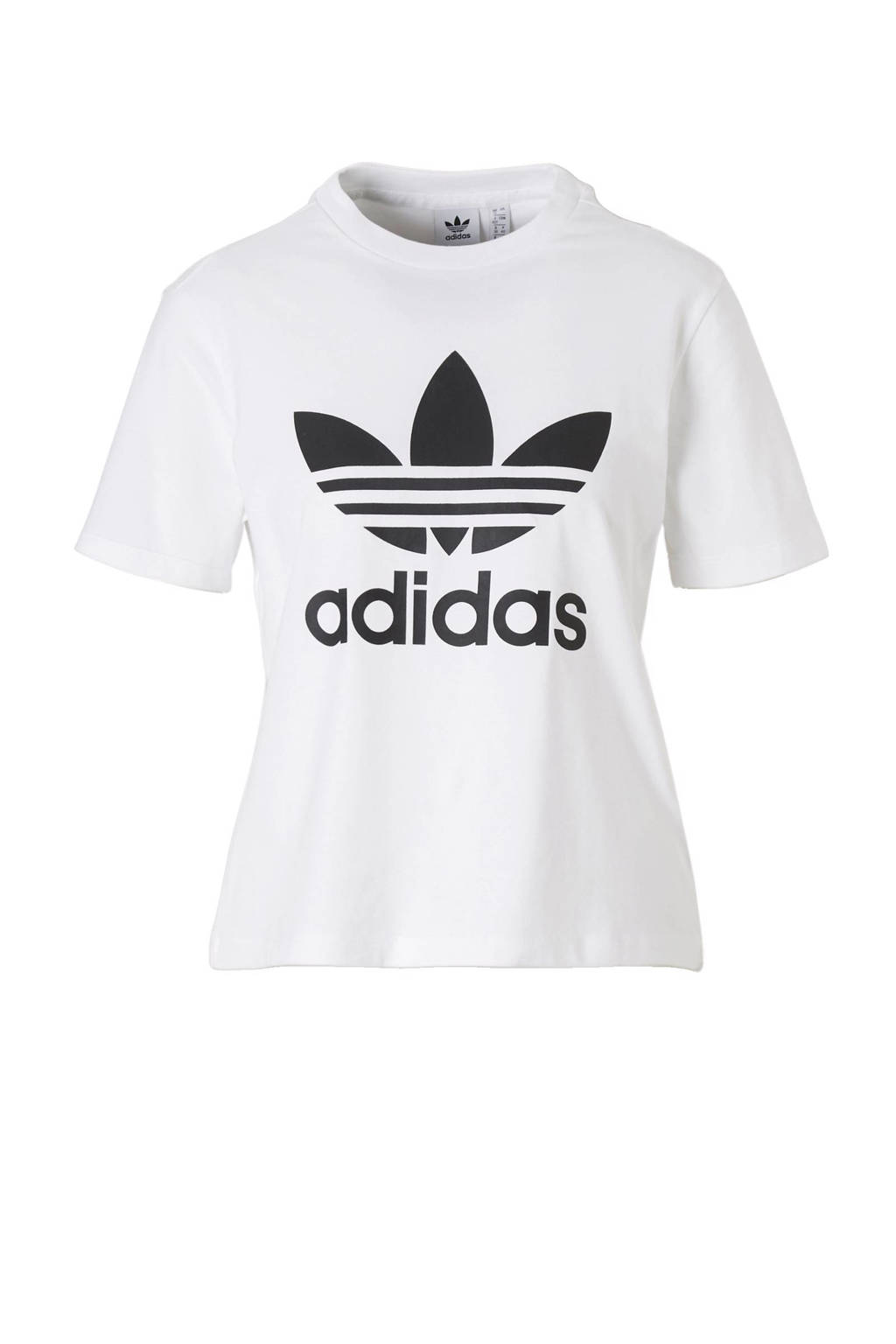 20b1a81b534 adidas originals T-shirt, Wit/zwart, Dames