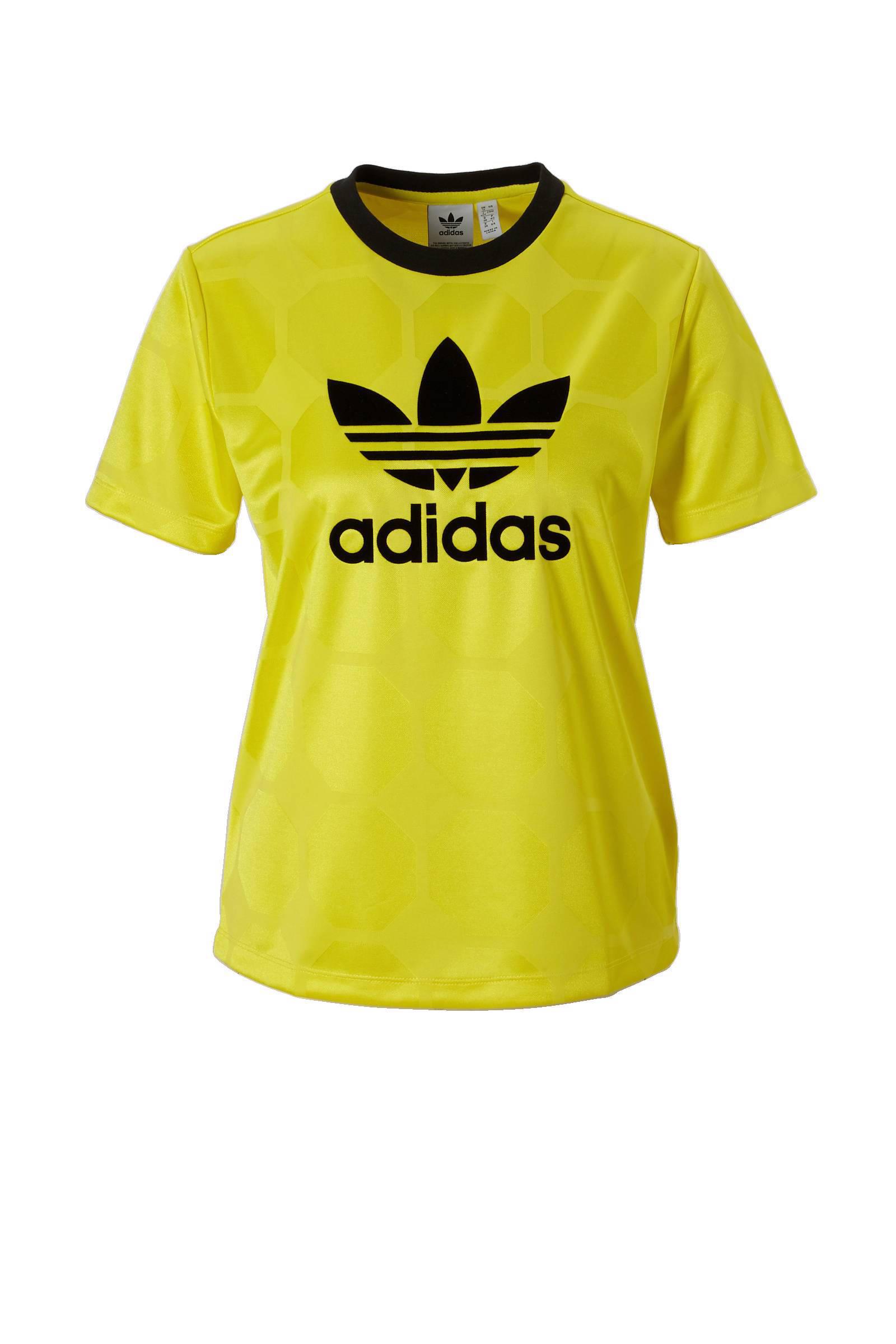 adidas Originals T-shirt geel