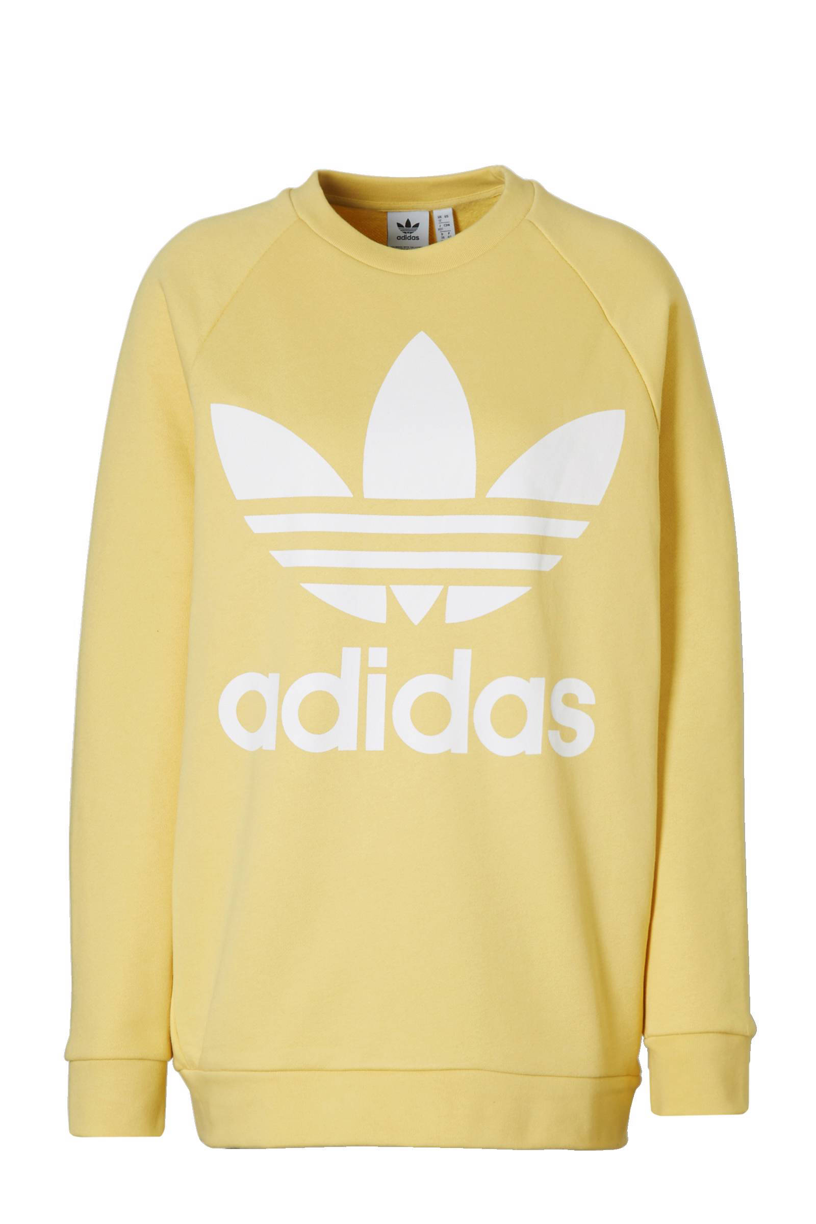 adidas Originals oversized sweater geel