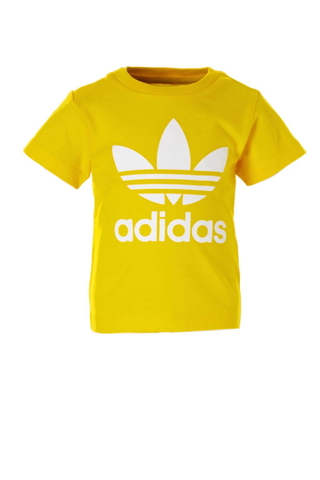adidas originals   T-shirt geel, Geel/wit