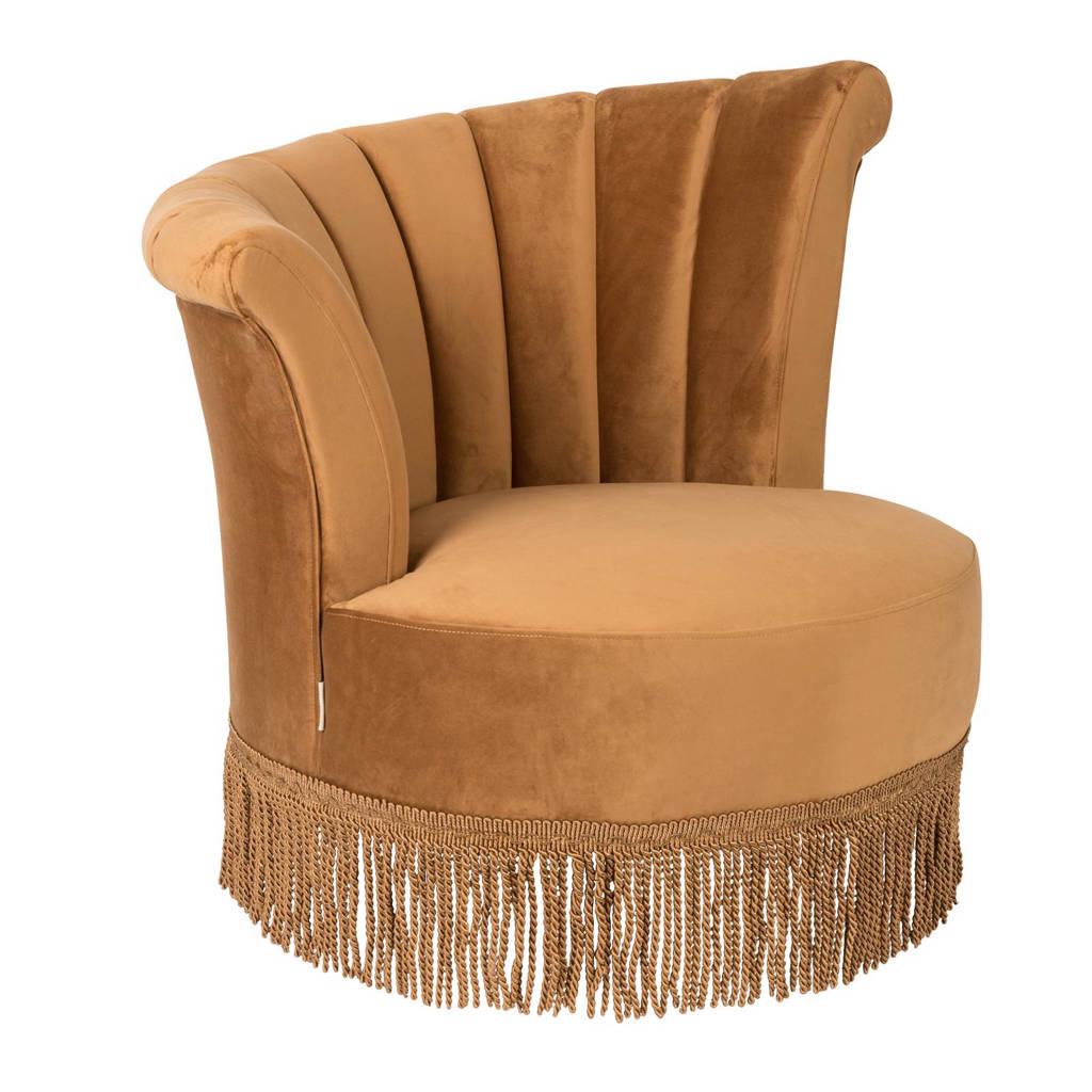 Dutchbone Flair fauteuil, Goudbruin