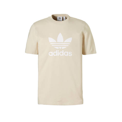 adidas originals-t-shirt Trefoil in beige