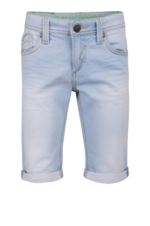 WE Fashion Blue Ridge slim fit jeans bermuda lichtblauw, Lichtblauw
