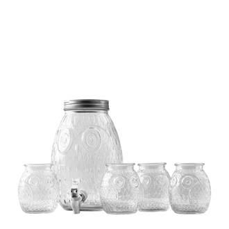 Bubo limonadetap met glazen (5-delig)