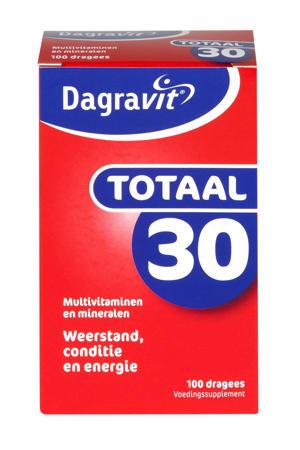 Totaal 30 multivitaminen - 100 dragees