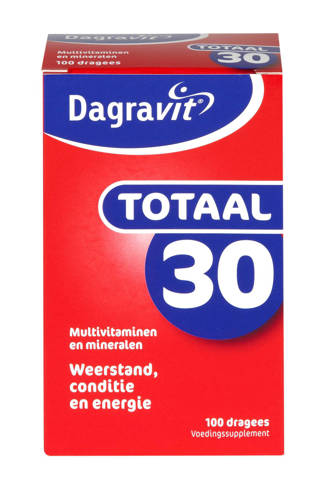 Totaal 30 multivitaminen - 100 dragees