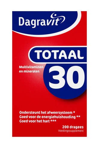 Totaal 30 multivitaminen - 200 dragees