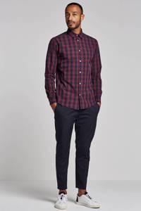 JACK & JONES ESSENTIALS Gingham regular fit overhemd, Donkerrood/zwart