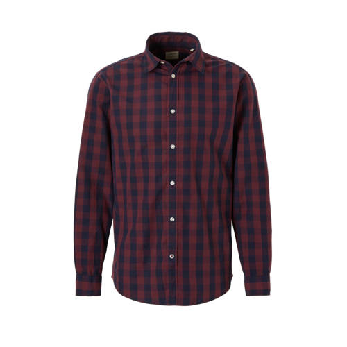 JACK & JONES ESSENTIALS Gingham regular fit ov